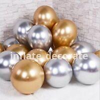 "10"" Chrome Metallic Pearl latex Balloons Birthday Baby shower Party Baloons UK"