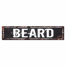 SLND0660 BEARD Street Chic Sign Home man cave Decor Gift Ideas