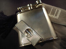 Dunhill Unique Petrol Table Lighter & Solid Silver Cigar Cutter - Large