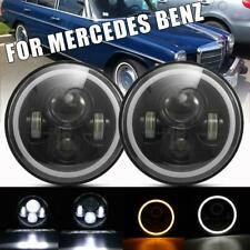 """2x Dot 7"""" Inch Led Headlights Hi/Lo Halo Ring for Mercedes Benz 240D 300D 220D(Fits: More than one vehicle)"""