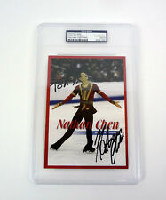 Nathan Chen 2018 Olympics Signed Autograph Photo Slabbed PSA/DNA COA #2