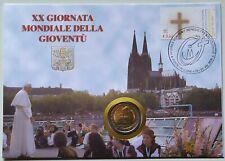 2  EURO  VATICANO  2005--BUSTA FILATELICA--XX GIORNATA MONDIALE DELLA GIOVENTU'-
