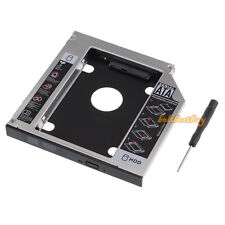 "2.5"" 12.7mm 2nd SATA HDD SSD Hard Drive Bay  Caddy for Laptop HP DELL with LED"