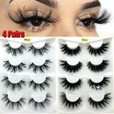 4 Pair 3D Mink Natural Fake Eyelashes Long Thick Mixed False Lashes Makeup Nude