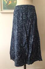 Seasalt Crankan Skirt in Rose Squid Ink Indigo - UK10 EU38 - Sales Sample SAVE!