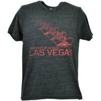 NCAA UNLV Rebels Nevada Las Vegas Repeat Logo Tshirt Tee Mens Short Sleeve Gray