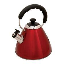 Mr Coffee Hartleton Whislting Tea Kettle, 2-Quart, Red