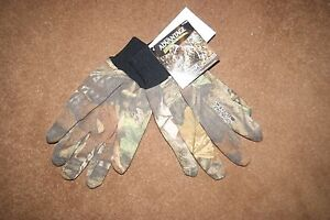 ADVANTAGE TIMBER CAMOUFLAGE HUNTING SHOOTING JERSEY KNIT COTTON GLOVES realtree