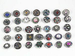 20pcs mix styles women snap 12mm Mini Jewelry interchangeable button charms
