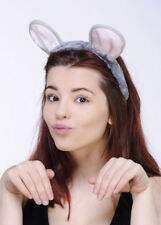 Grey Fancy Dress Mouse Ears on Headband
