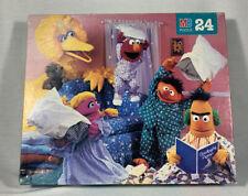 "1995 Sesame Street ""Pillow Fight"" 24 Piece Puzzle Complete"
