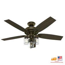 🔥🆕Hunter Crown Canyon 52 in. Indoor Regal Bronze Ceiling Fan 53331✅