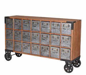 Apothekerkommode Loft Kommode Anrichte Apothekenschrank Sideboard 21 Schubladen