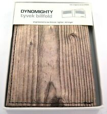 Dynomighty Tyvek Billfold Premium Wallet  - Wood - Recyclable Novelty