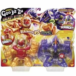 Heroes of Goo Jit Zu Galaxy Attack - Sun Fire Blazagon vs Dark Matter Terrack