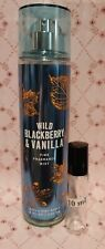 Bath & Body Works WILD BLACKBERRY &  VANILLA SAMPLE 10ml roller-ball bottle