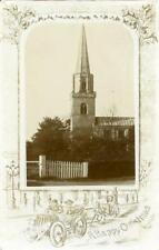 REAL PHOTO CHRISTMAS POSTCARD OF BRAYTON CHURCH, (NEAR SELBY), WEST YORKSHIRE