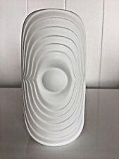 Vintage White OP ART Porcelain Vase Germany Royal Porzellan Bavaria Mid Century