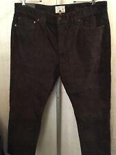 Copper Oak Corduroy Pant W38 L32 Brown Cotton Stretch New 190433