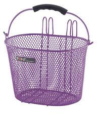 Point Children's Bike Basket - Metal - Wire Basket, Oval, Purple NEW 5107800