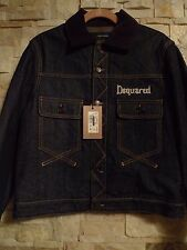 DSQUARED2  MEN'S DENIM JACKET 100%AUTHENTIC ITALY 48/S