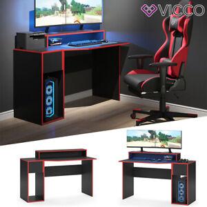 Gaming Desk Schreibtisch Kron 130cm Gamer PC Tisch Computertisch Bürotisch Vicco