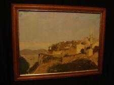 Tableau « les Angles » Gard, rare représentation régionale du village