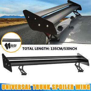 "Universal Megan Racing Aluminum GT Trunk Spoiler Wing Black Plate Adjustable 53"""
