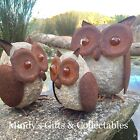 Handcrafted Rusty Metal Owl Garden Art Pond Ornament Statue 3 Sizes