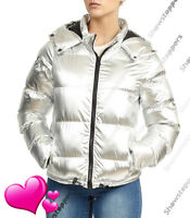 NEW PADDED Womens Fur WINTER COAT Ladies Jacket Size 6 8 10 12 14 Quilted Parka