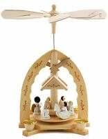 "German Christmas Pyramid 12"" Nativity Play ANGELS - Handpainted Limited Edition"