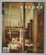 Architectural Record Mag Peter Zumthor Modernity January 2008 020320nonr
