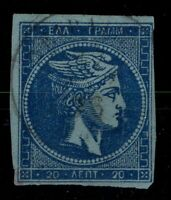 G129572/ GREECE LARGE HEAD MESHED PAPER / Y&T # 37a USED – CV 70 $