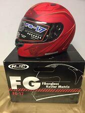 HJC Thrust FG-17 Men's Street Bike Motorcycle Helmet MC-1F  X-Large Red/Orange