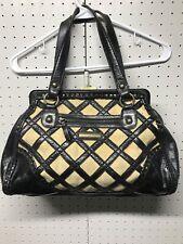 Isabella Fiore Large Leather Canvas Handbag