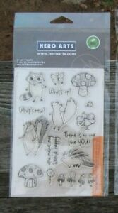 RACCOON SQUIRREL SKUNK FOREST FRIENDS Hero Arts clear stamp set new