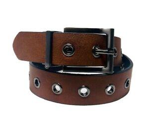 Kids Genuine Leather Single Grommet Reversible Belt w/ Gunmetal Buckle! WMB20-71