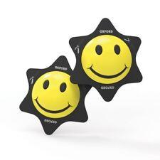 Oxford cara sonriente para motocicleta moto Racing rodillera deslizador amarillo