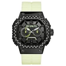 Marc Ecko E95057l1 Unisex Three Hand Analogue Movement Black Dial With Silver Cr Armband- & Taschenuhren
