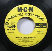 Hear! Country Early Promo 45 Pete Hunter - You Ain'T Got No Right / I'M So Tired