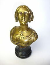 Bronze Bust on the Wooden Base France 1860 Bronze