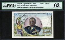 French Equatorial Africa Cameroun 1957, Specimen 100 Francs, P32s,PMG 63 UNC
