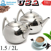 1.5/2.0L Stainless Steel Tea Kettle Teapot For Stove Top Fast Boil Water Coffee