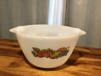 Vintage Mid-Century Anchor Hocking Fire King Fruit Milk Glass Mixing Bowl