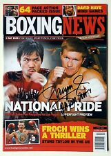 MANNY PACQUIAO Signed BOXING NEWS (1st May 2009) Team Pac Cert