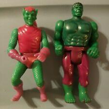 Vintage Marvel action figures 3.75 lot 1975 Incredible Hulk Green Goblin Mego