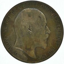 1906 ONE PENNY COIN EDWARD VII GREAT BRITAIN    #WT16235
