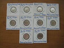 1/10 Ounce Silver Round:  Mercury Dime Design