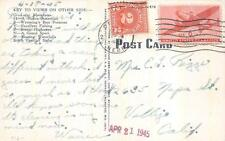 CHEYENNE WYOMING LARGE LETTER C25 AIRMAIL & POSTAGE DUE STAMP POSTCARD 1945