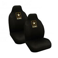 Brand New Military U.S. Army Star Car Truck 2 Front High Back Bucket Seat Covers